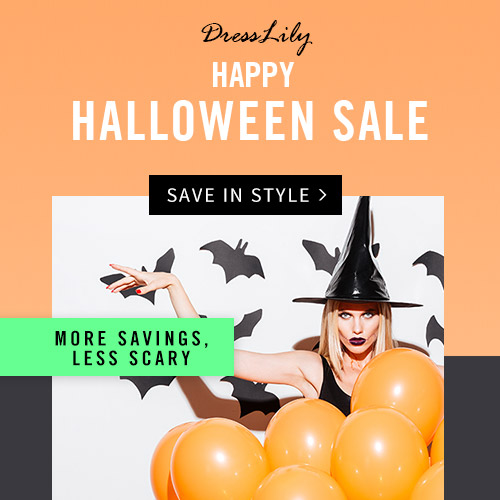 "It is time to enjoy your happy Halloween, come Dresslily to have a memorable Halloween, you can enjoy free shipping and 10% off with coupon ""HALLOWEEN2016"". (Ends: 11/1/2016)"