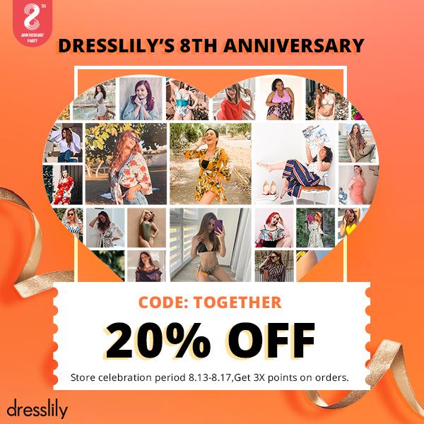 dresslily 8th Anniversary Campaign