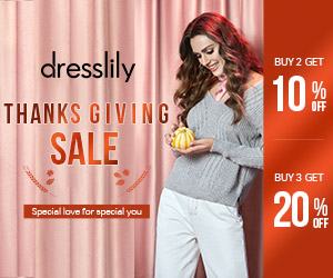 Dresslily Thanksgiving Sale 2019