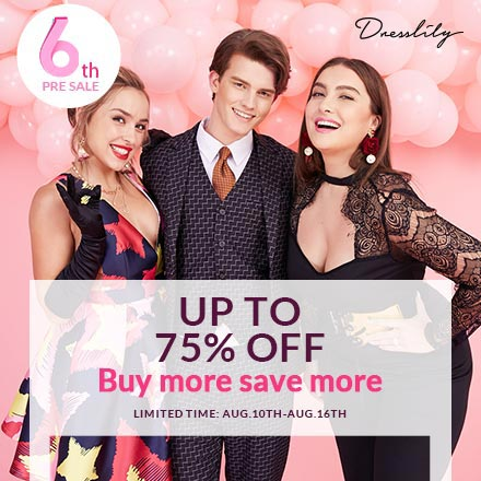 """Free Shipping Worldwide + Enjoy $20 OFF $100 with Code """"DL5THANNUAL20"""" for all orders at Dresslily.com! Ends: 8/25/2018"""