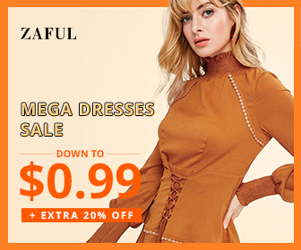 "You shouldn't miss it! Limited 300 each day! Enjoy Extra 20% OFF $80+, 15% OFF $60+ and 12% OFF $40+ for All Dresses Orders with Coupon ""MEGASALE"" at Zaful.com!  Ends: 10/10/2018"