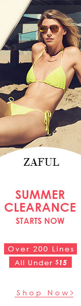 Grab amazing discounts with zaful's summer clearance sale! Over 200 lines of swimwears & accessories, all under $15.