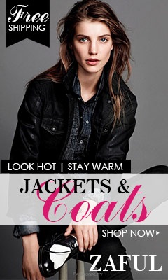 Free Shipping for Outwears @zaful.com: Look Hot and Stay Warm