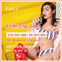 Zaful May's Sale: $55-$6, $89-$10
