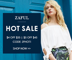 "Hot Sale: Enjoy Extra $4 OFF $35 and $5 OFF $45 with Code ""ZFHOT1"" Zaful.com! Ends: July,22, 2017"