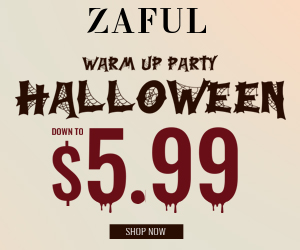 Zaful 2019 Halloween Warming-up Ends: 10/21