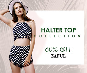 Up to 62% OFF for Halter Top Collection at Zaful.com! Ends: 4/10/2017