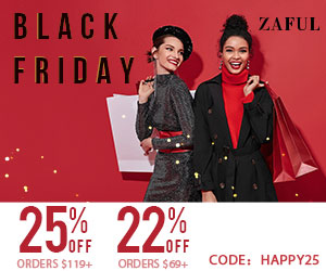 Zaful Black Friday Sale: 22% off $69, 25% off $119