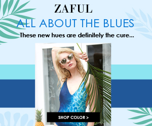 Blue Feelings! Enjoy Up to 90% OFF for Blue Fashion Styles at Zaful.com!