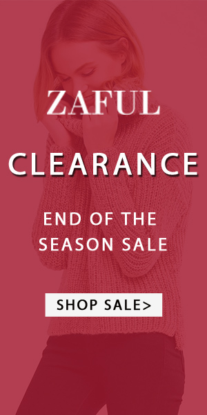 Clearance!! Great discount for the end of the season sale at Zaful,you can buy all kinds of clothes, accessories and beauty with low price. You will regret to miss them. (Ends: 2/28/2017)