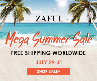 Mega Summer Sale: Enjoy Extra 8% OFF Sitewide, 10% OFF for Orders $60+ and 12% OFF for Orders $100+ at Zaful.com! Ends: Jul.31, 2017
