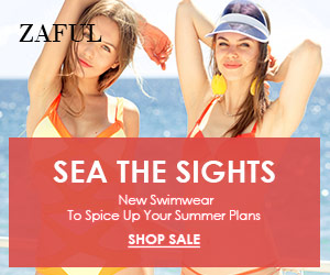 New Swimwear Sale! Enjoy Up to 70% OFF for Sea the Sights at Zaful.com! Ends: July,22, 2017