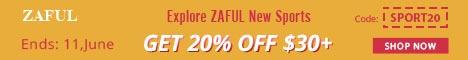 Explore ZAFUL New Sports: 20% OFF $30+