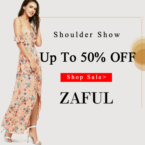 Do you know the 2017 fashion trend? Absolutely, it is the off shoulder fashion styles. Welcome to Zaful to get your 2017 fashion off the shoulder styles, you can up to enjoy 55% off all kinds of off the shoulder fashion styles. You will regret to miss the