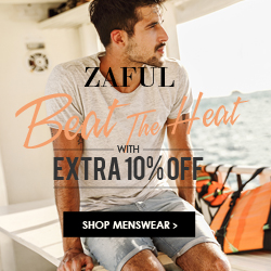 Menswear Sale! Enjoy Extra 10% OFF for Menswear sale at Zaful.com! Ends: 8/31/2017