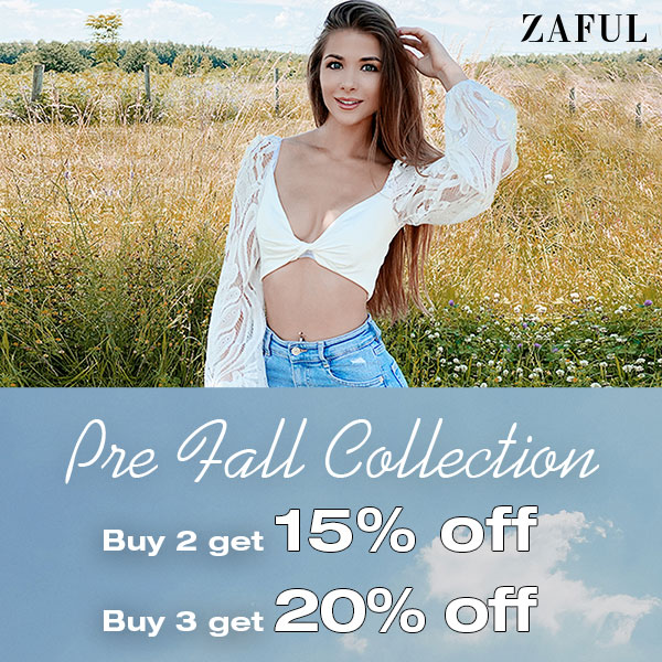 Pre-Fall Collection:Buy 2 get 15% off / Buy 3 get 20% off