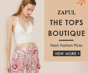 "Enjoy $3 OFF $30, $5 OFF $50, $12 OFF $100 with Code ""Top"" for Tops at Boutique at Zaful.com! Ends: July.31, 2017"