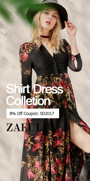 "Up to 80% OFF ""SD2017"" for Shirt Dress at Zaful.com! Ends: Mar.3, 2017"