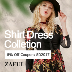 "Enjoy Extra 8% OFF With Code ""SD2017"" for Shirt Dress at Zaful.com! Ends: Mar.3, 2017"