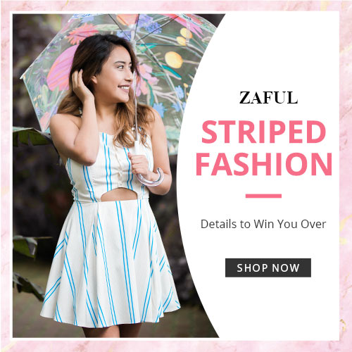 Zaful Striped Fashion: Details to Win You Over