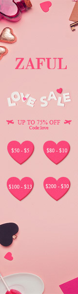 "Valentine will come soon, it is the most suitable time to buy gifts to give big surprise to your lover. You can enjoy enjoy $5 OFF $50+, $10 OFF $80+, $13 OFF $100+, $30 OFF $200+ with coupon ""love"" with kinds of fashion styles at Zaful. Don't m"