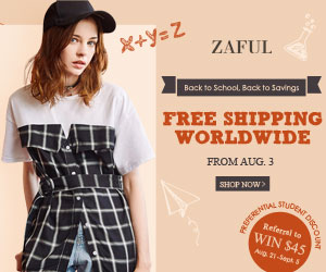 Free Shipping Worldwide - All Orders at Zaful.com! Back to School and Back to Savings. Ends: Agu.21, 2017