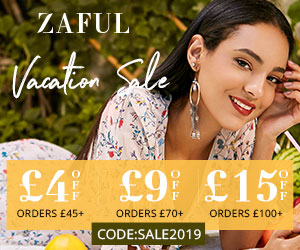 ZAFUL uk site: Summer Vacation Sale £4 off £45, £9 off £70, £15 off £100 Code: SALE2019 Ends on 7.16