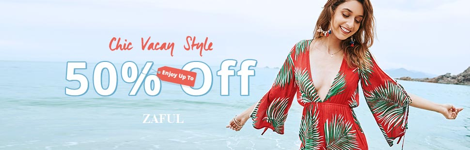 """Enjoy Extra $10 OFF with Code """"BIGSALE2"""" on orders over $80+ for Chic Vacay Style Sale at Zaful.com. Ends: 7/23/2017"""