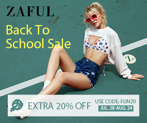 "Zaful ""Back to School"" Sale: Extra 20% off All Orders with Code: FUN20 7/28-8/25"