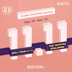 Free Shipping Worldwide and Deals from $1.99 at Zaful.com! Ends: 11/13/2017