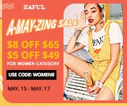 Zaful May's Sale: $56-$8, $49-$5