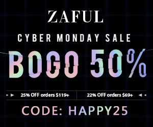 Zaful Cyber Monday Sale: 22% off $69, 25% off $119 with code: HAPPY25