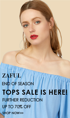 End of  Season Sale! Enjoy Up to 70% OFF for Tops Sale at Zaful.com! Ends: July,25, 2017