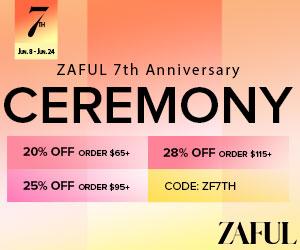 300x25011 00 - Zaful 7th Anniversary Sale: $65-20% | $95-25% | $115-28%
