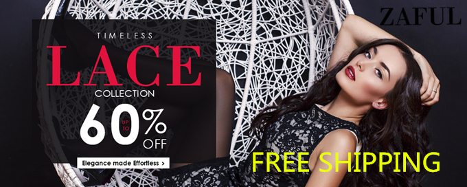 Free Shipping and UP to 60% OFF for Timeless Lace Collection