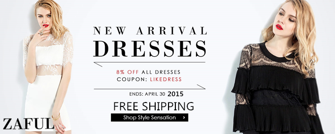 8% OFF + Free Shipping for New Dresses with Coupon: LIKEDRESS. (Ends: 4/30/2015)