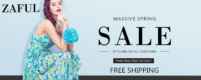 UP to 60% OFF + Free Shipping for Massive Spring Sales