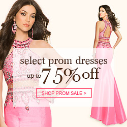 Select prom dresses up to 75% off