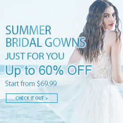 Summer Bridal gowns start from $69.99