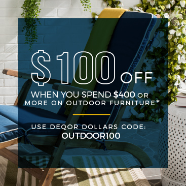 $100 Off When You Spend $400 or More on Outdoor Furniture