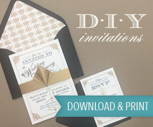 Art Deco DIY Wedding Invitation Templates