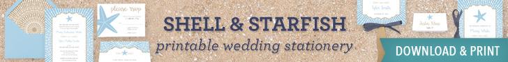 Beach Wedding Printable Stationery | Download & Print