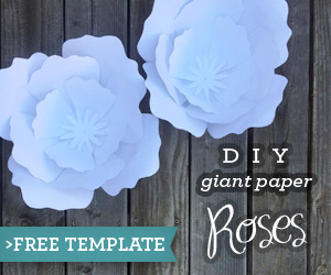 DIY Paper Roses with Free Template