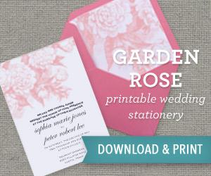 Garden Rose DIY Wedding Printables