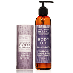 Bliss Out with Lavender, Clary Sage and Vetiver essential oils.