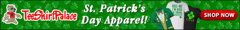St. Patrick's Day Apparel at TeeShirtPalace.com!
