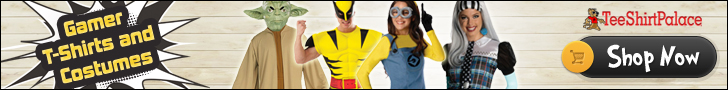 Gamer T-Shirts and Costumes at TeeShirtPalace.com!