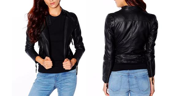 Woman Fashion PU Jacket