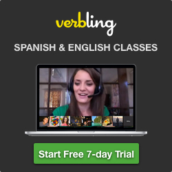 Verbling Spanish & English Classes 24/7. Start free 7-day trial