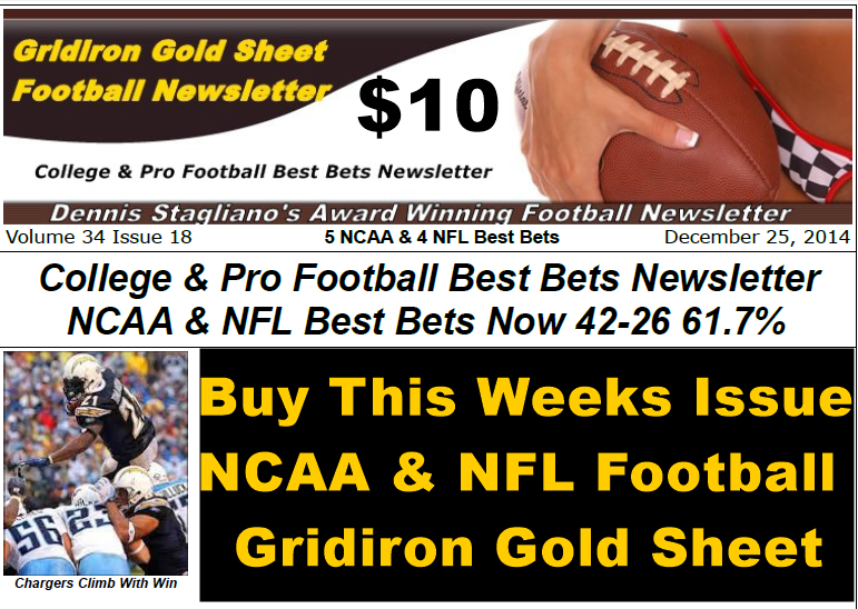 GRIDIRON GOLD SHEET FOOTBALL NEWSLETTER